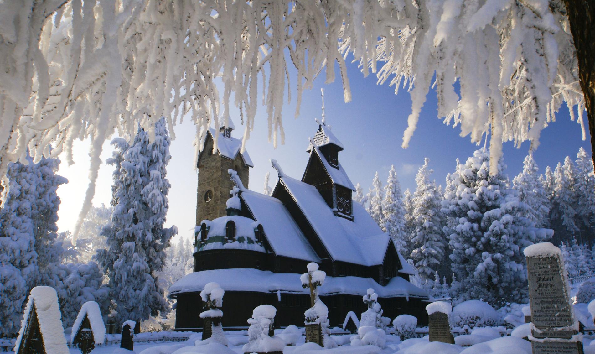 Świątyni Wang okrytej śniegiem
